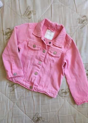 Джинсовка, джинсовая куртка на девочку 3-5 лет