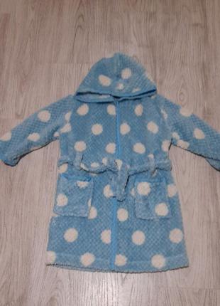 Теплый халат с капюшоном