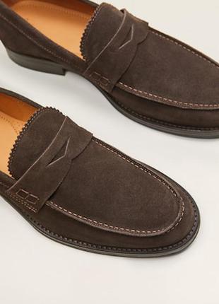 Туфли mango 39-40р  кожа