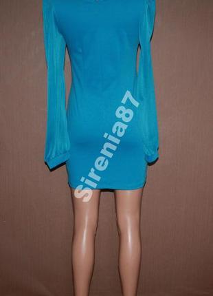 Нарядное мини платье с красивым воротничком №3163