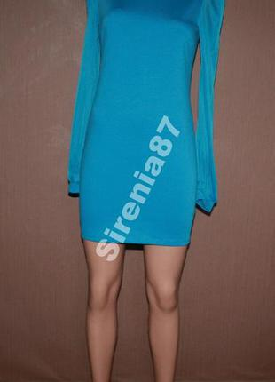 Нарядное мини платье с красивым воротничком №3162