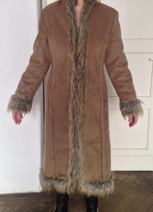 Зимнее уютное пальто - дубленка, которая действительно согреет!