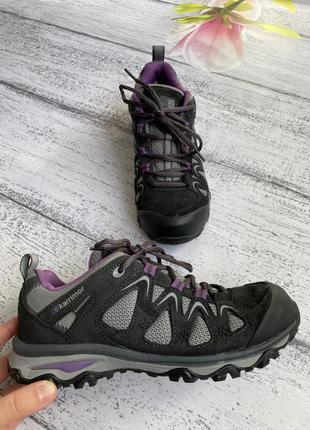 Крутые натуральный замш+текстиль ботинки кроссовки weathertite karrimor размер 38(24,3см стелька)
