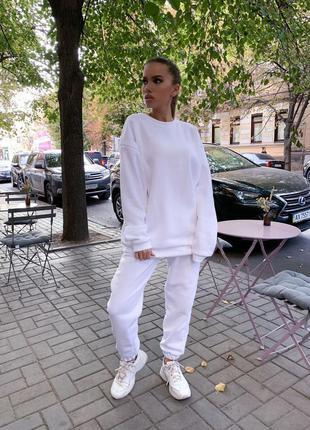 Спортивный женский костюм теплый костюм штаны кофта набор прогулочный