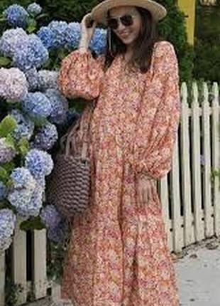 Шикарное женское платье из коттона,