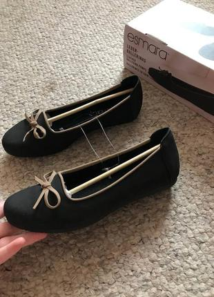 Новые туфли, балетки esmara с натуральной кожи 38 размер 24,5 см