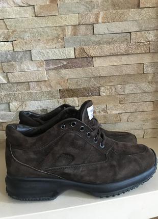 Шикарные замшевые кроссовки ботинки hogan оригинал 😍