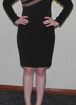 Классическое платье с вставками