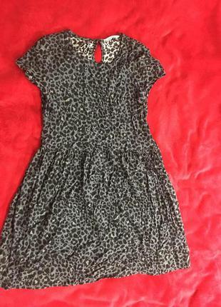 Платье леопардовое от h&m
