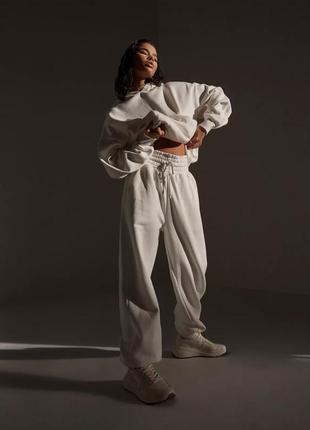 Костюм с объемными штанами на флисе re_styld,uk8