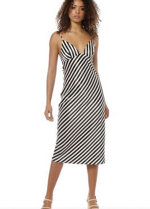 Утонченное миди платье слип