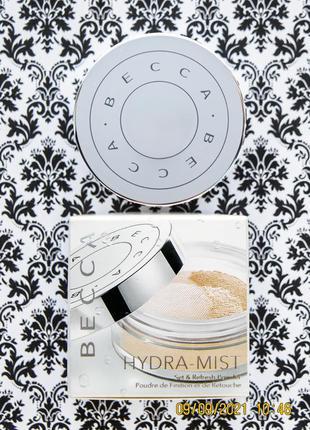 Фиксирующая освежающая пудра becca hydra-mist set & refresh powder 5 г