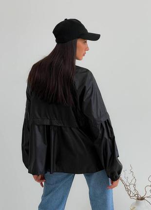 Черная куртка ветровка, чорна ветрівка