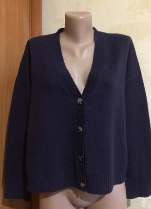 Актуальный шерстяной кардиган,over size!огромный выбор новой одежды!