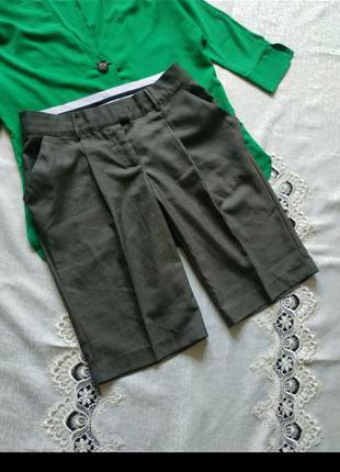 Брюки укрроченные бриджи шорты с боковыми карманами