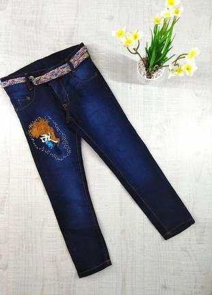 Стильные демисезонные джинсы для девочек