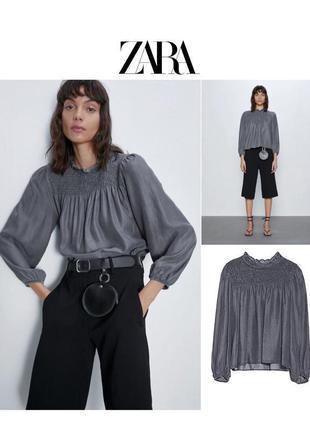 Серая блуза джинсовая рубашка оверсайз свободного кроя rundholz owens lang