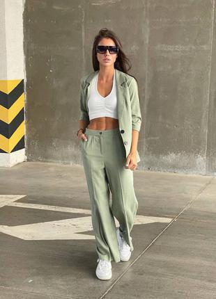 Женский костюм брюки ( штаны) и пиджак цвета в ассортименте