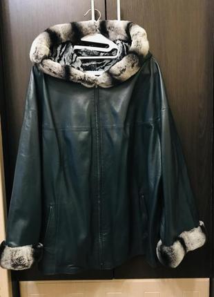 Куртка демисезонная из натуральной кожи двухсторонняя турция