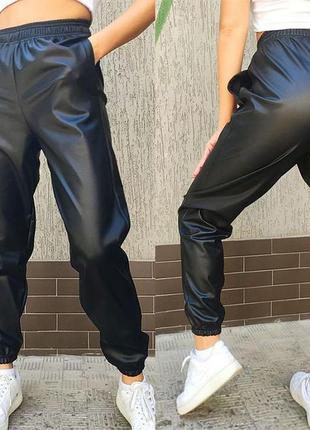 Теплые штаны-джоггеры