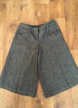 Тёплые шорты кюлоты капри
