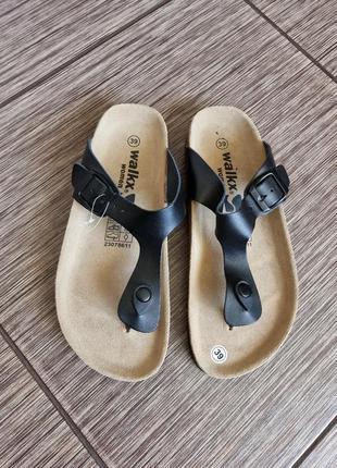 Мега стильные кожаные сабо, шлепанцы на корковой подошве walkx comfort (birkenstock, bikkenbergs)