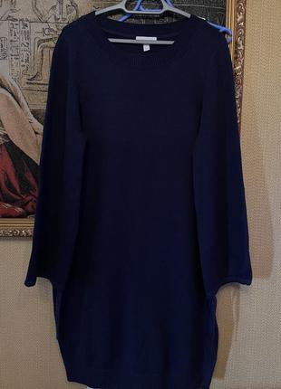Стильное  брендовое , тёплое платье 50% шерсть мериноса , 50 % хлопок
