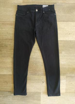 ♠️👖стильные мужские базовые зауженные джинсы черного цвета denim co