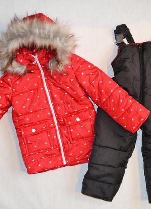 Зимний комбинезон на девочку 2-4 года,  детские зимние комбинезоны