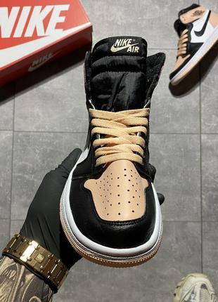 Nike air jordan 1 retro pink black.