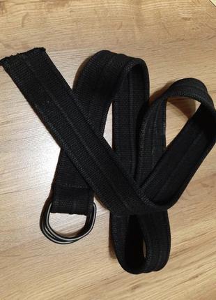 Ремень, ткань натуральная (котон), фурнитура металл, очень качественный и плотный, ширина 4,5 см, длинна 117см.