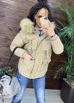 Куртка парка на меховой подкладке