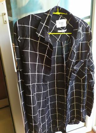 Рубашка летняя в клеточку