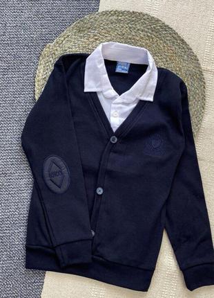 Обманка поло с рубашкой сорочкою  свитер джемпер кофта школьная шкільна для мальчика хлопчика