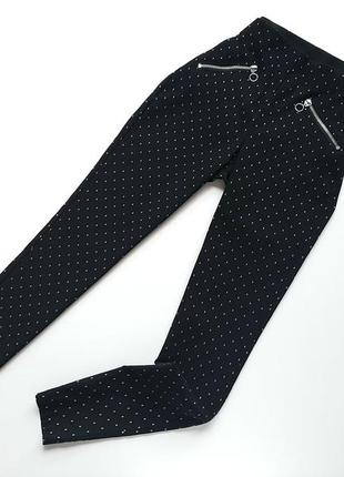 Штани базові чорні висока в горошок c&a