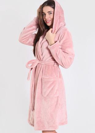 Теплый махровый плюшевый халат