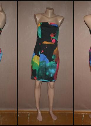 Яркое коктейльное платье №202  h&m2