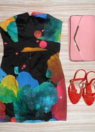 Яркое коктейльное платье №202  h&m1