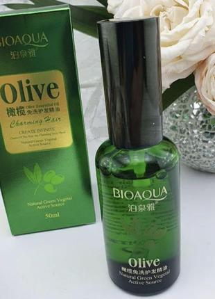 Масло для волос bioaqua с экстрактом оливки, 50 ml