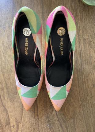 Туфли из текстиля river island 39 размер