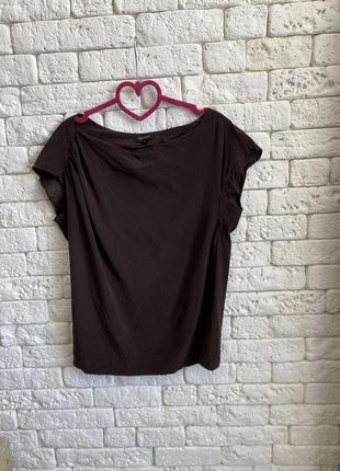 Шёлковая блузка шоколадного цвета escada