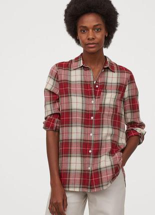 Рубашка в клетку, h&m, плотная
