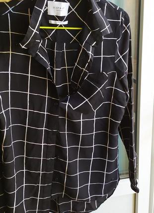 Рубашка черная в клеточку