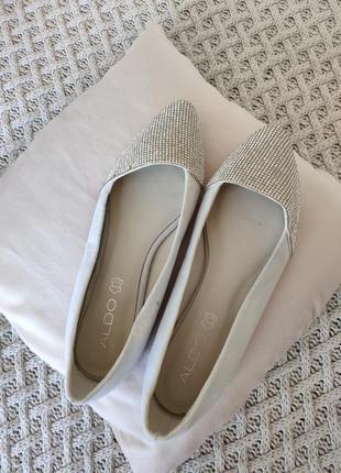Балетки туфли aldo стразы камни натуральная кожа
