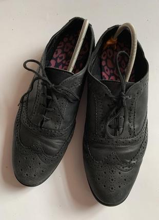 Оксфорды туфли кожа