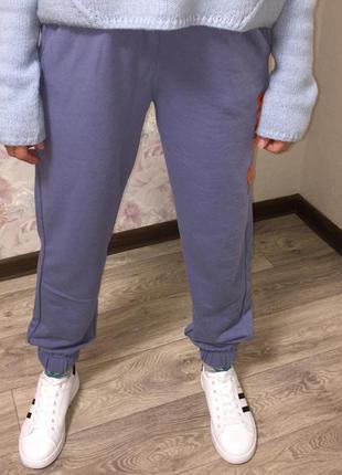 Спортивные штаны без флиса осенние джоггеры модные брюки карго с манжетами