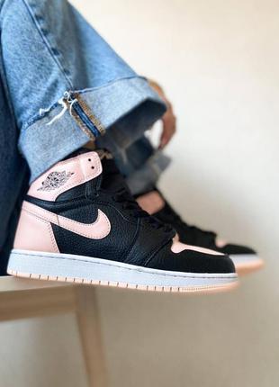 Nike air jordan 1 retro high og crimson tint кроссовки найк аир джордан наложенный платёж купить