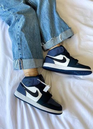 Nike air jordan 1 mid sanded purple (gs) кроссовки найк аир джордан наложенный платёж купить