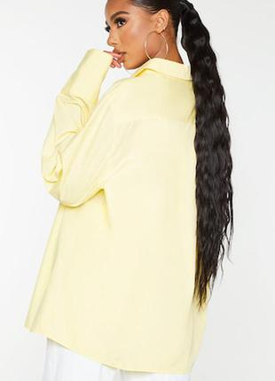 Жёлтая лимонная рубашка оверсайз