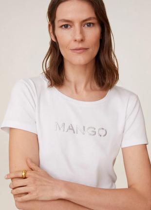 Оригинал! базовая футболка mango xs s m l
